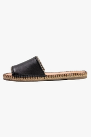 Morkas Shoes Just Black Leather Slides - Product Mini Image