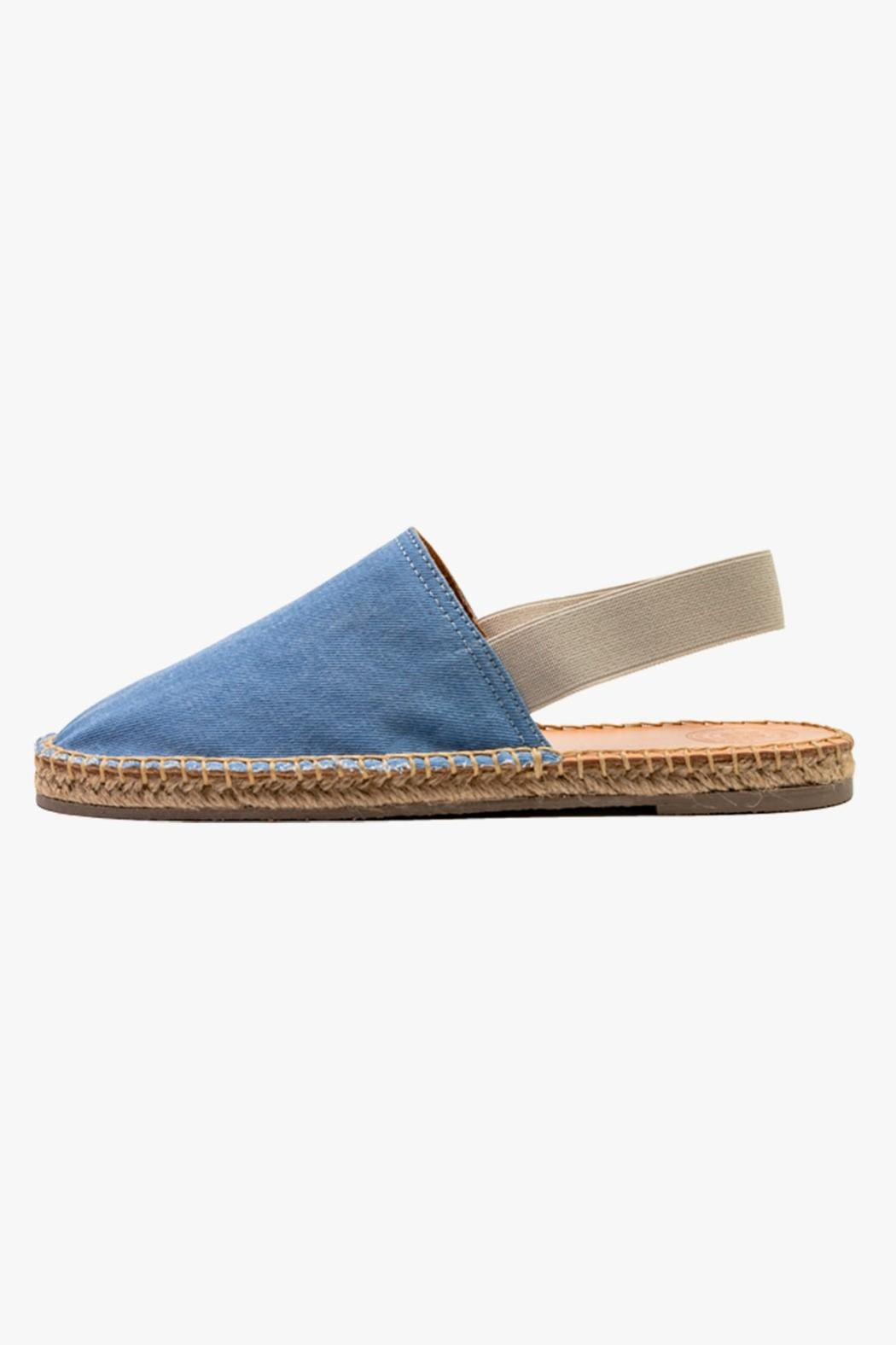 Morkas Shoes Light Blue Textile Mules - Front Cropped Image