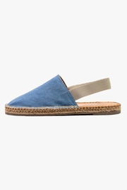 Morkas Shoes Light Blue Textile Mules - Front cropped