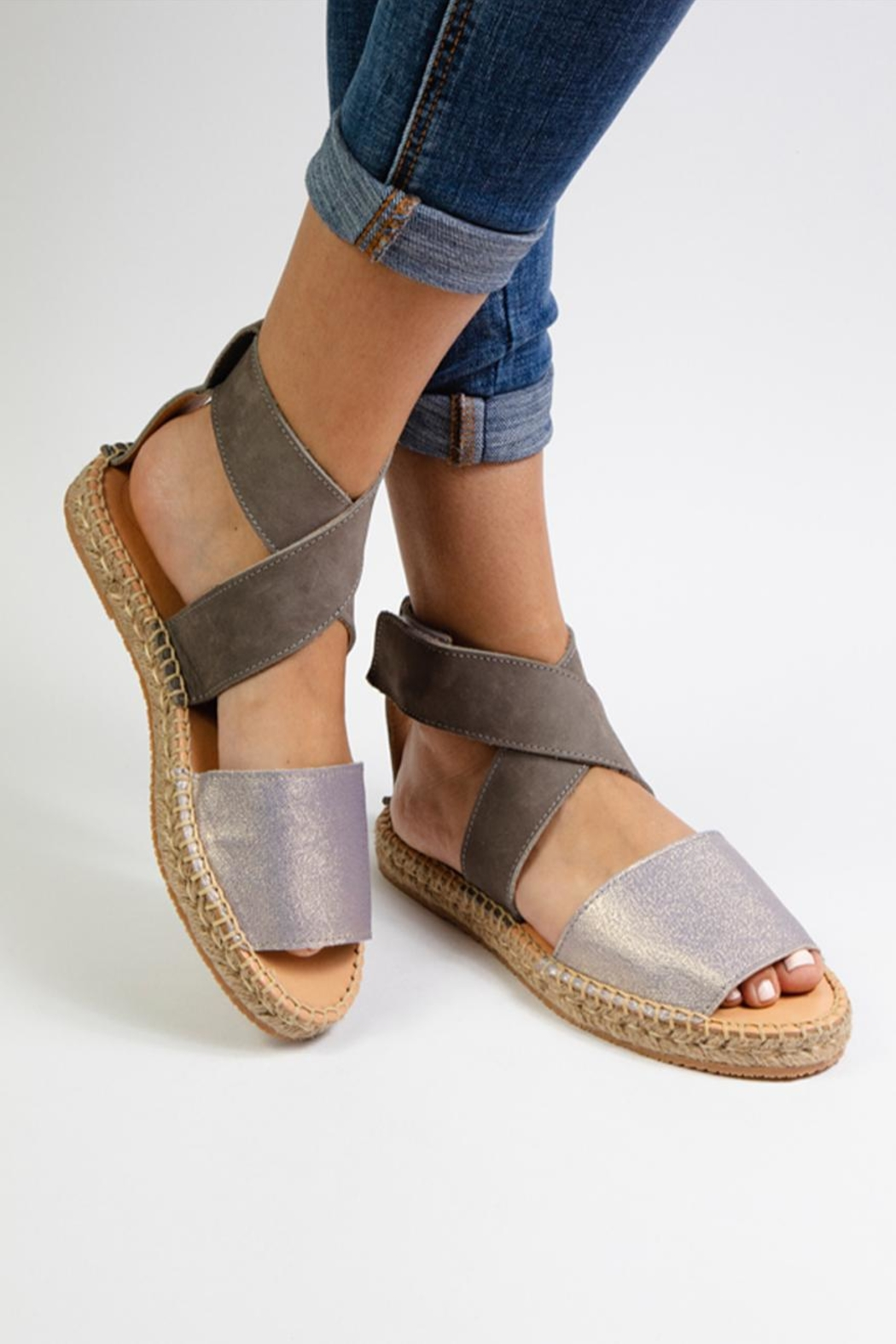 Morkas Shoes Mist Leather Ankle Strap - Side Cropped Image