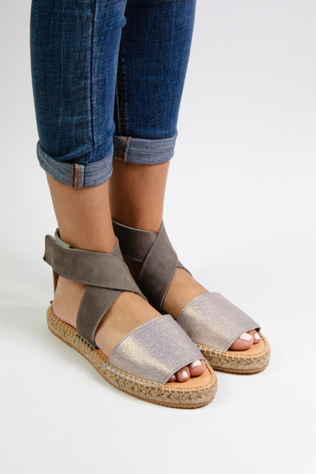 Morkas Shoes Mist Leather Ankle Strap - Front Full Image