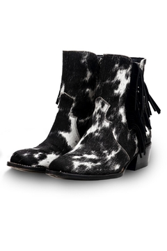 Morkas Shoes Over The Ankle Boots Black Fringes - Product List Image