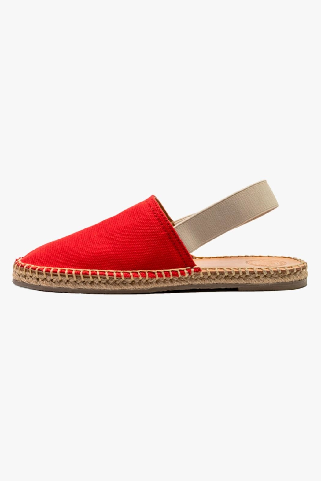 Morkas Shoes Red Textile Mules - Main Image