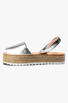 Shoptiques Product: Silver Synthetic Espadrille Sandal