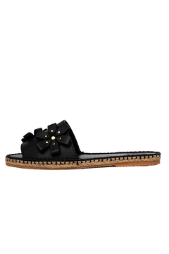 Morkas Shoes Slide Black Flowers - Product List Image