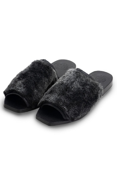 Shoptiques Product: Slides Black Fur