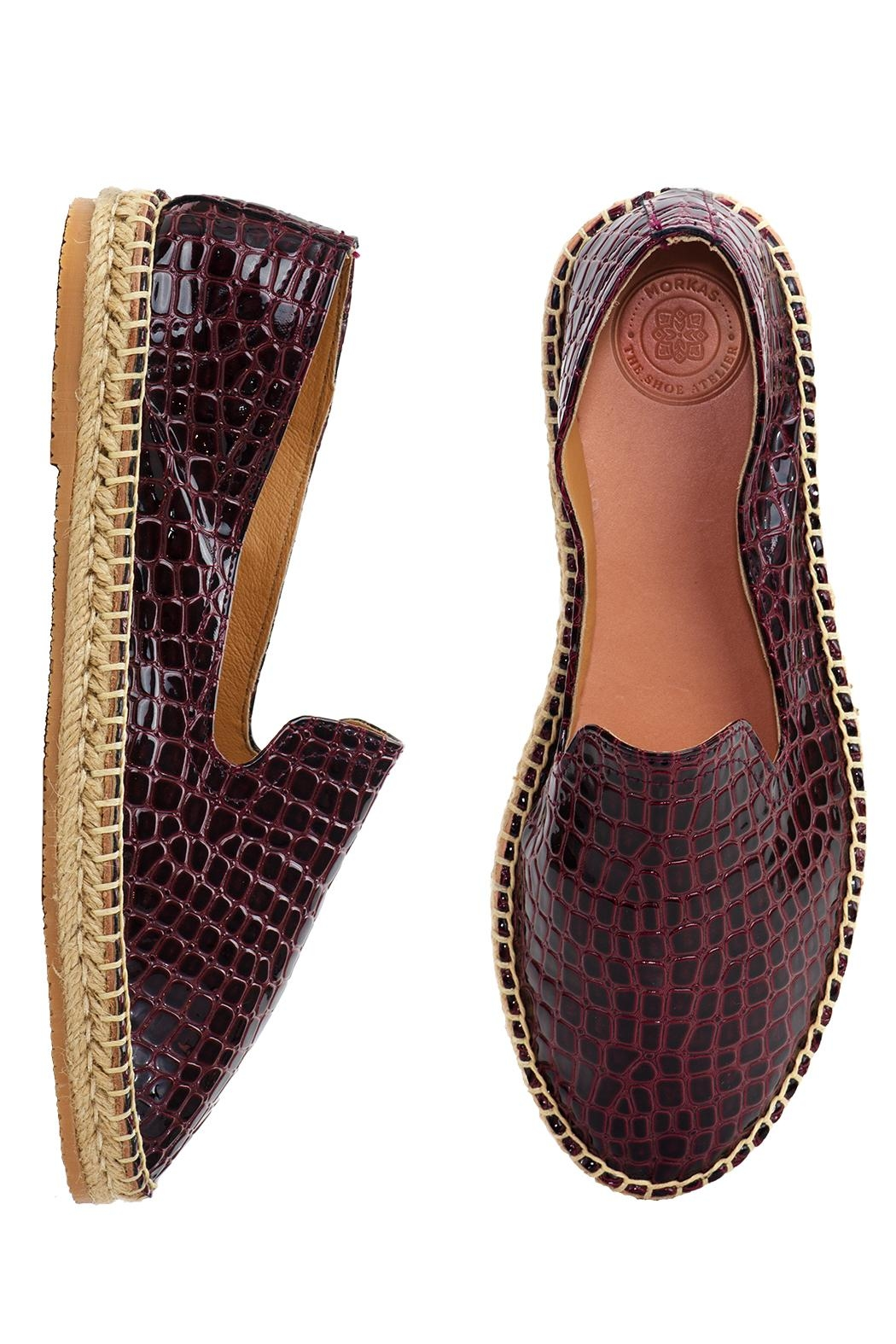 Morkas Shoes Slipper Wine Croco - Side Cropped Image