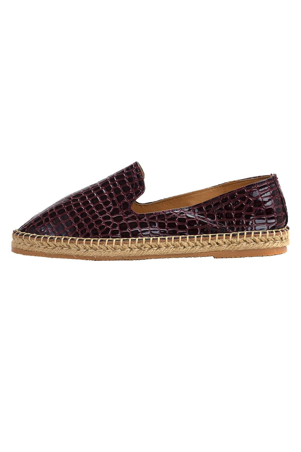 Morkas Shoes Slipper Wine Croco - Front Full Image