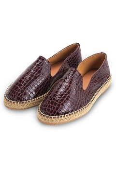 Morkas Shoes Slipper Wine Croco - Product List Image