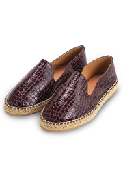 Morkas Shoes Slipper Wine Croco - Front cropped