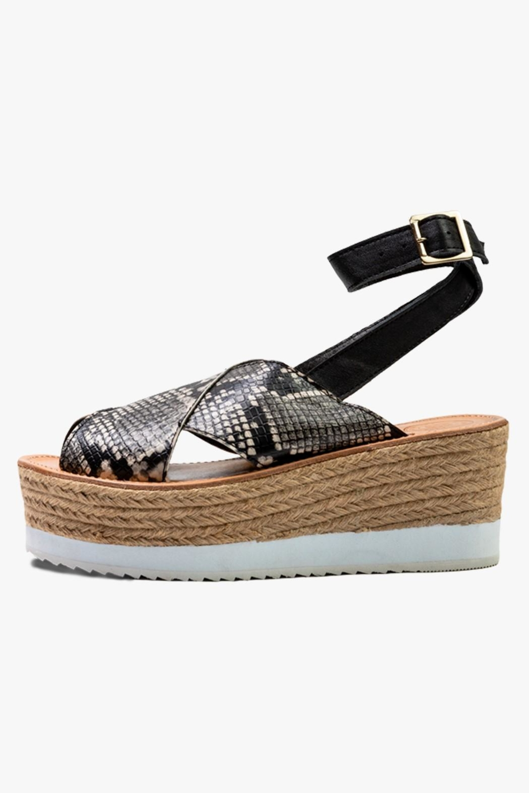Morkas Shoes Synthetic Snake Espadrille - Main Image