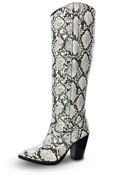 Morkas Shoes Under The Knee Latte Etched Boots - Product List Image