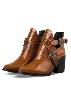 Morkas Shoes Western Ankle Bootie Old Camel - Product List Image