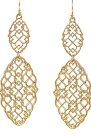 US Jewelry House Moroccan Cutout Double Drop Earrings - Product Mini Image