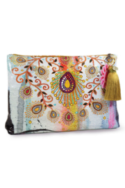 Papaya Moroccan-Peacock Large Pouch - Product Mini Image