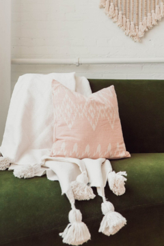 Shoptiques Product: Moroccan Pom Pom Blanket- Queen