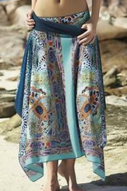 Sunflair Beach Fashion Moroccan Print Cover-Up - Front cropped