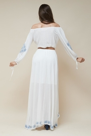 Morrisday The Label Mykonos Embroidered Skirt - Product Mini Image