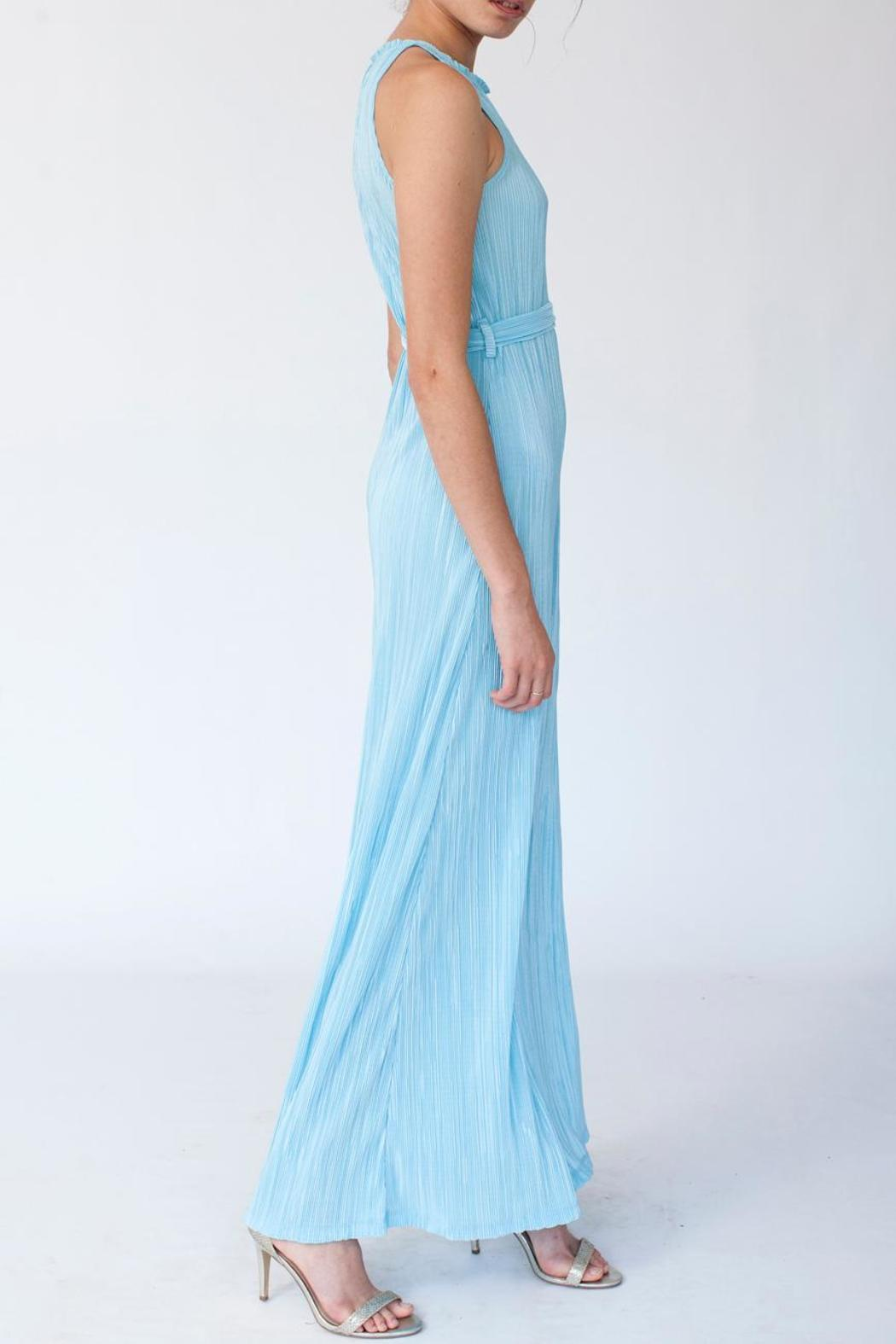 MORS Plisse Maxi Dress - Front Cropped Image