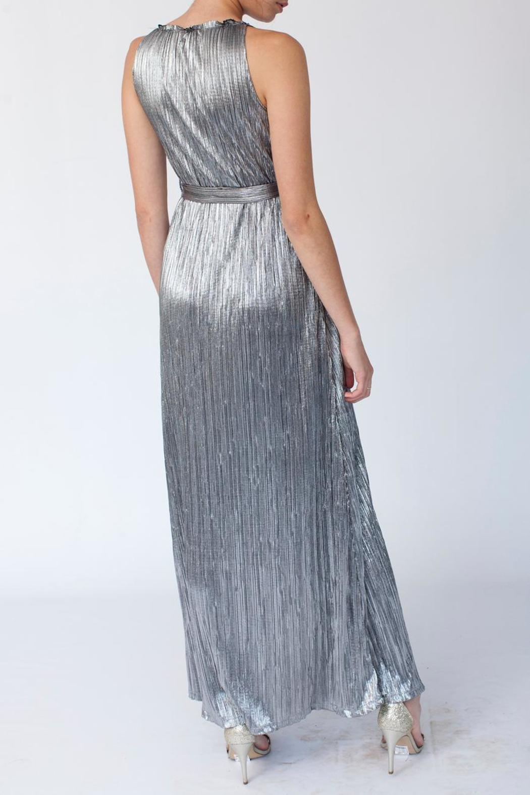 MORS Plisse Maxi Dress - Back Cropped Image