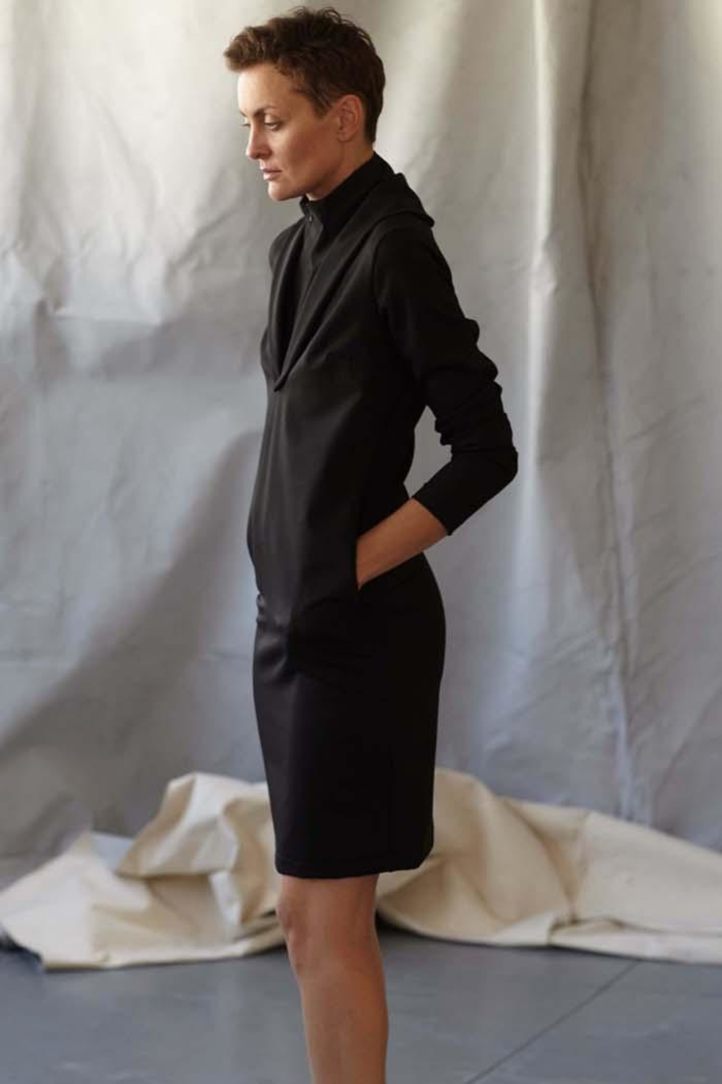 MORS Removable Collar Dress - Front Full Image