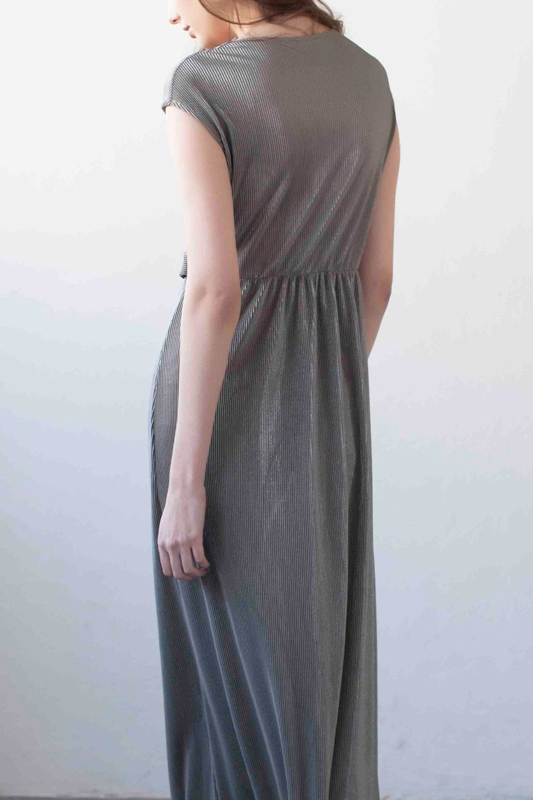 MORS Wrap Maxi Dress - Back Cropped Image