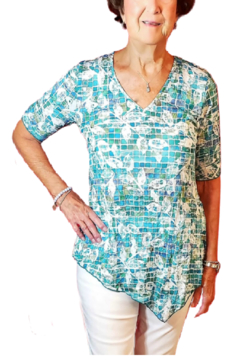 Sno Skins Mosaic Crinkle Tunic - Product List Image