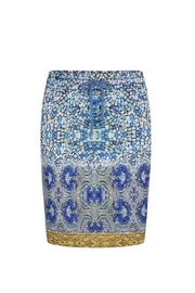 EsQualo Mosaic Print Skirt - Product Mini Image