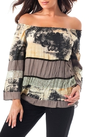 Angel Apparel Mosaic Shoulder Top - Product Mini Image