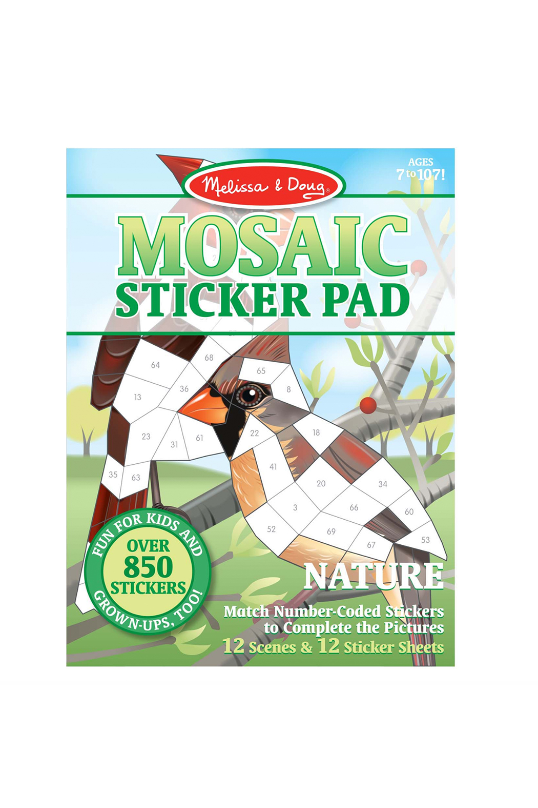 Melissa and Doug Mosaic Sticker Pad - Front Cropped Image