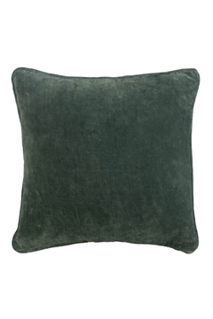 Ganz Moss Green Velvet Pillow - Product List Image