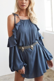 Noa Elle Moss Off-Shoulder Dress - Product Mini Image