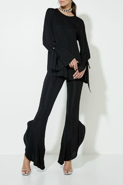 Shoptiques Product: Black Queen Flared Pants