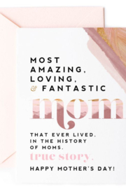 Lyn-Maree's  Most Amazing & Loving Mom - Mother's Day Card - Product Mini Image