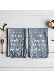 The Oyster's Pearl Most Wonderful Time Of The Year Set of Two Tea Towels - Product Mini Image