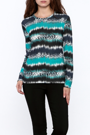 motek Blue Boho Stripe Top - Product Mini Image