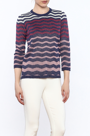 motek Zigzag Print Top - Product Mini Image