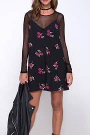 Motel Black-Floral Slip Dress - Product Mini Image