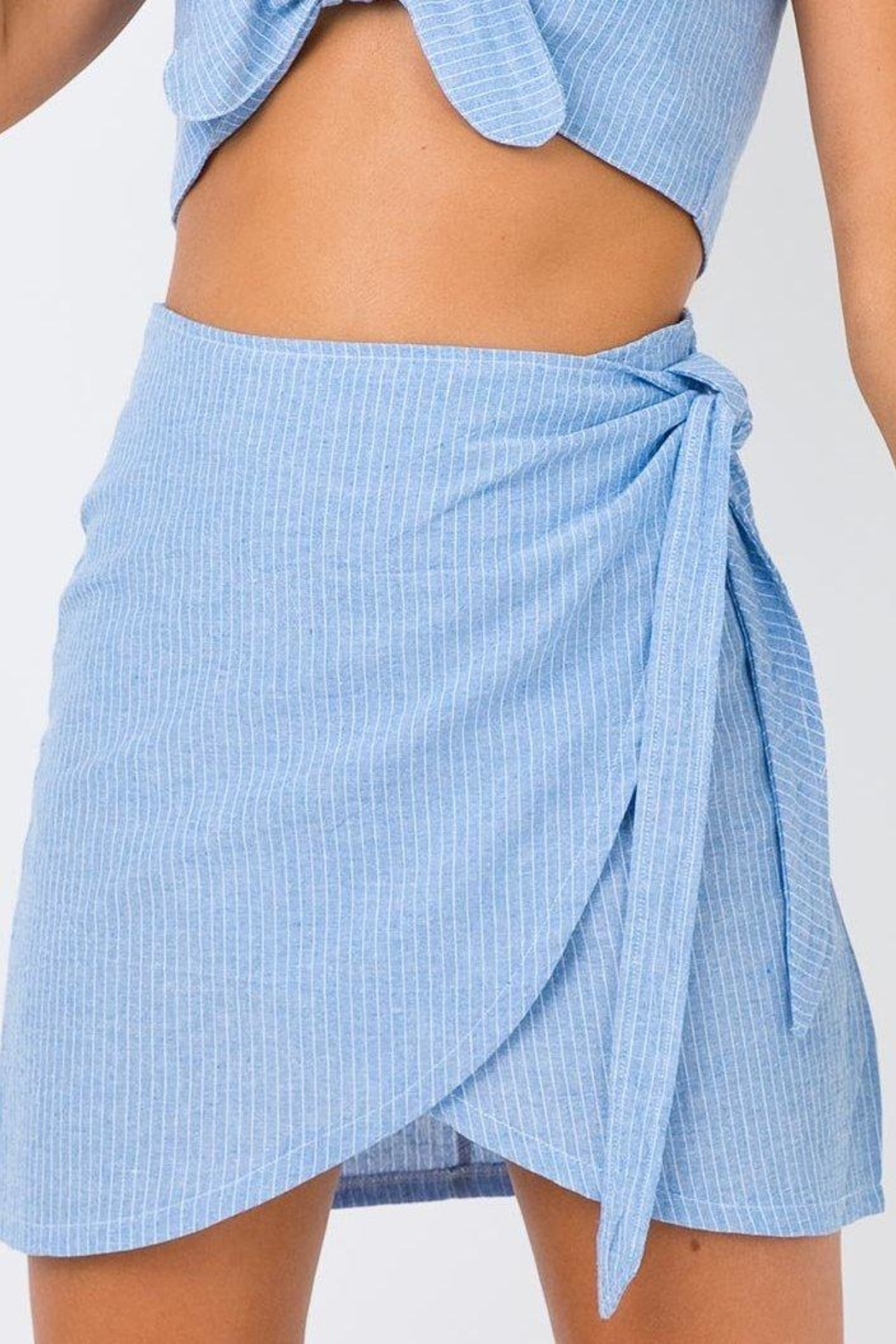 Motel Eleanor Wrap Skirt - Front Cropped Image