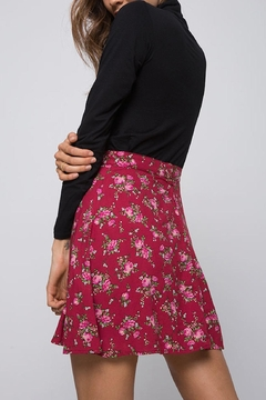 Motel High-Waist Floral Skirt - Alternate List Image