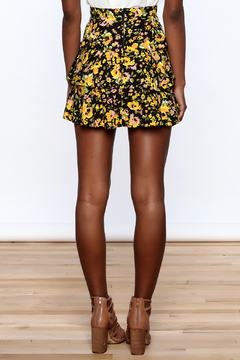 Motel Rocks Floral Tiered Mini Skirt - Alternate List Image