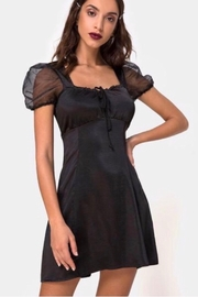 Motel Rocks Guenelle Satin Dress - Black - Product Mini Image