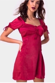 Motel Rocks Guenelle Satin Dress - Cherry Red - Product Mini Image