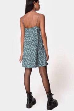 Motel Rocks Sanna Floral Bloom Slip Dress - Green - Alternate List Image