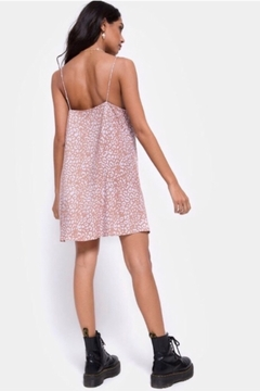 Motel Rocks Sanna Slip Dress Leopard Spot - PINK - Alternate List Image