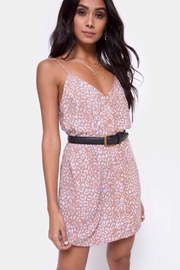 Motel Rocks Sanna Slip Dress Leopard Spot - PINK - Front cropped