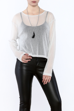 Shoptiques Product: Sheer Shimmer Top