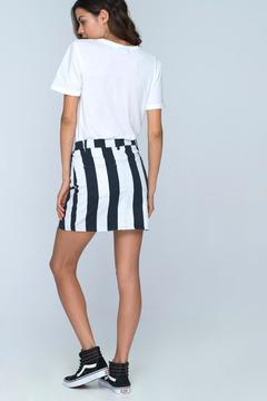 Shoptiques Product: B&W Stripe Miniskirt