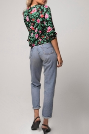 Motel Rocks Floral Tie-Front Top - Front full body