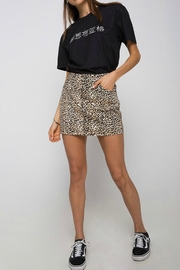 Motel Rocks Leopard Mini Skirt - Product Mini Image